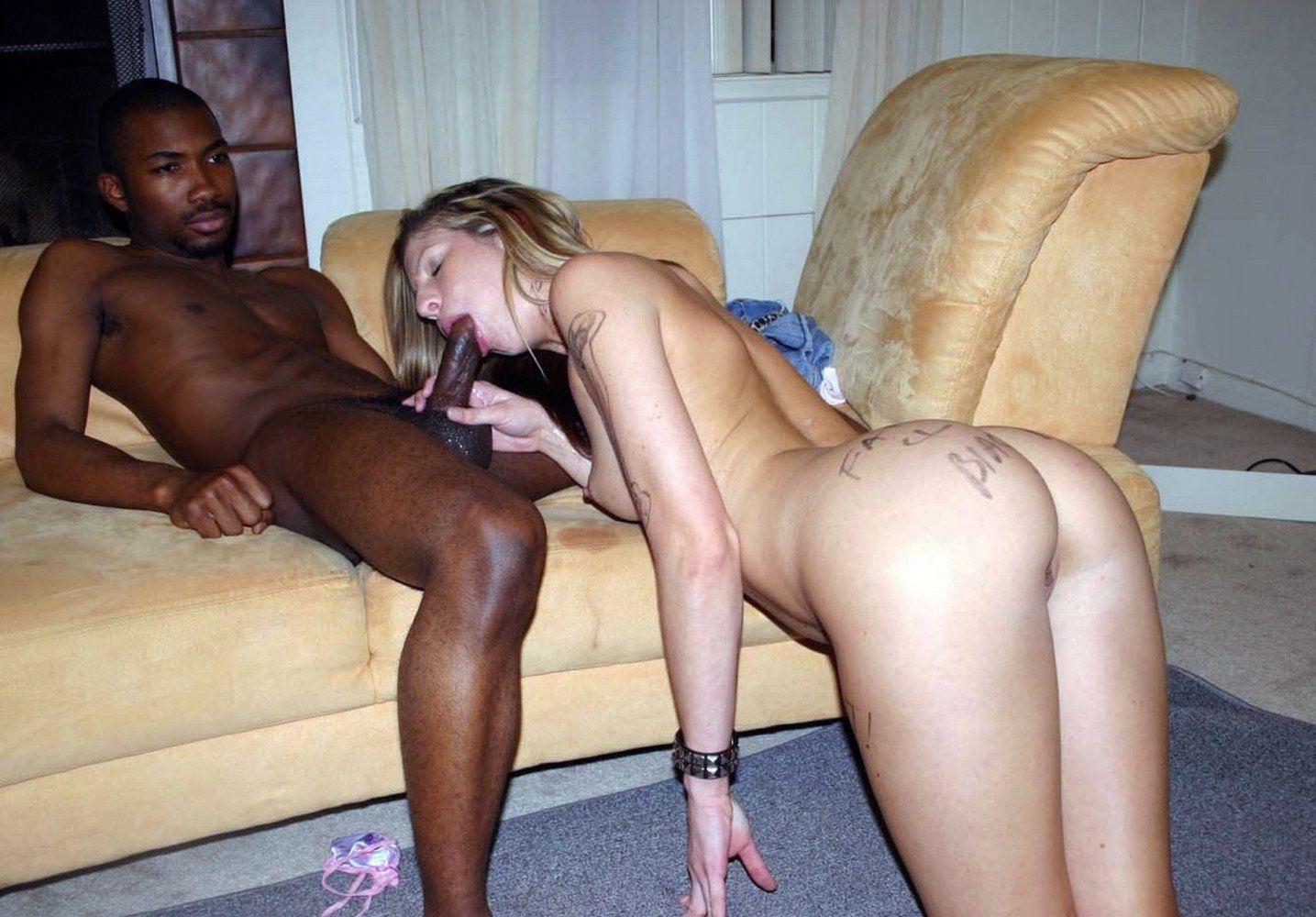 Black man fucking white slut