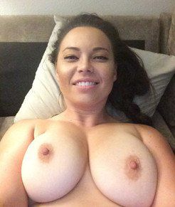 Attractive tits close up