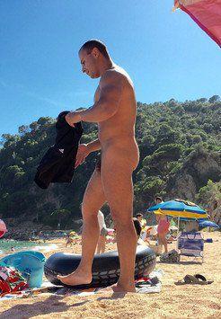 Naked guys on the beach Hidden Cam