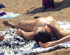 Beach erected dick hidden camera
