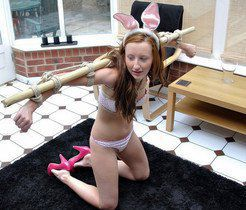 Such charming rabbits, funny nude girls