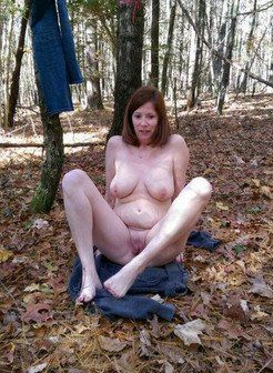 Naked walk in the woods pussy on the...