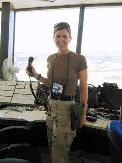 Naked airfield Manager. The sexiest women...