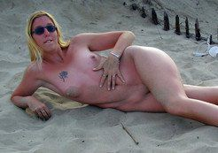 My wife is naked on the seaside of cap d'agde