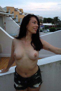 Cap D'agde milf with pierced nipples