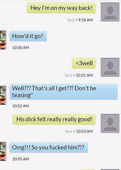 Phone screenshot, his dick felt really good!