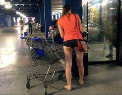 Sexy shopping hidden cam, review of nice ass
