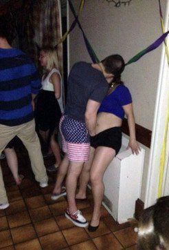 Guys groping drunk girls at the club