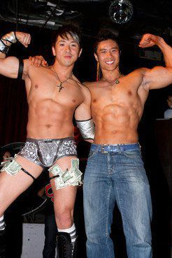 handsome asian strippers, gay party