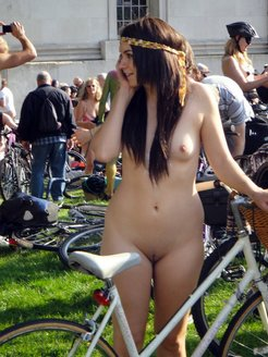 Parade of exhibitionists and nudists in...