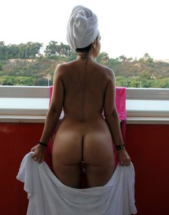 Milf after shower put your towel down