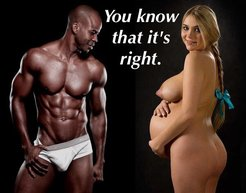 Pregnant ladies loved black refugees,...