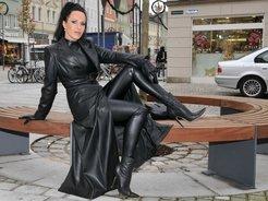 Latex goddess, black leather fetish,high...