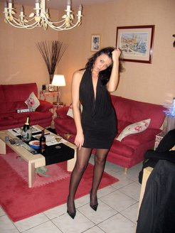 Wife waiting for lover in hotel room