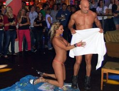 Bachelorette party male strippers hidden...