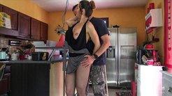 Sexy housewife seduces neighbor