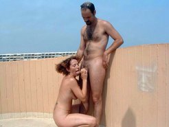 wife polishes dick of a stranger on the...