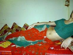 Elegant Muslim teenager undresses and dances