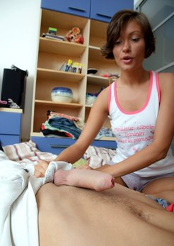 Real amateur cfnm, girls touching and tugging