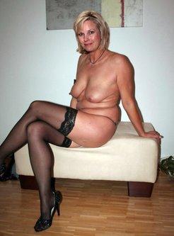 chic mature ladies in stockings