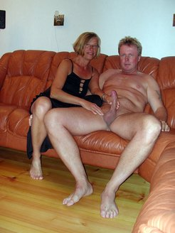 Nasty Milf jerking dick of her boyfriend