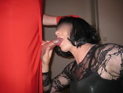 Big ass mature in red style fucked from...