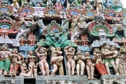 Buddhistic sexual figurines and modeling