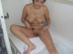 Adorable english mom masturbating pussy