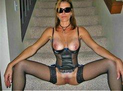 MILF stairway