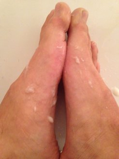 Feet with Piss and Cum