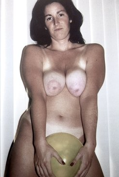 Wife with big natural tits and hairy pussy