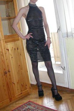 My slut wife in a sexy dress!
