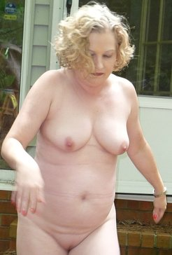 chubby wife naked outside