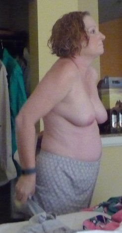 wife undressing and naked in hotel