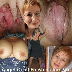 Angelica 50 Polish hairy milf slut