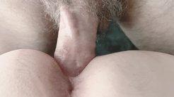 Amateur Blonde MILF doggy style close up POV