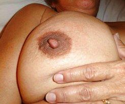My big dark nipples